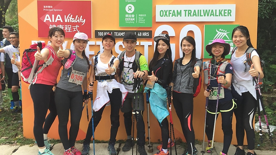In 2016, we formed a girls' team to compete in the HK Oxfam Trail-walk. It was a charity challenge where we had to finish a 100km mountain climb together as a team. We finally made it after a tough 39 hours of hiking with no sleep!
