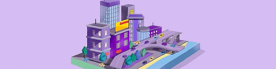 Animation of US city
