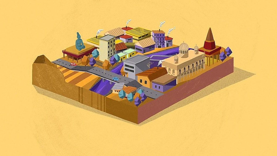 Animation of Indian city
