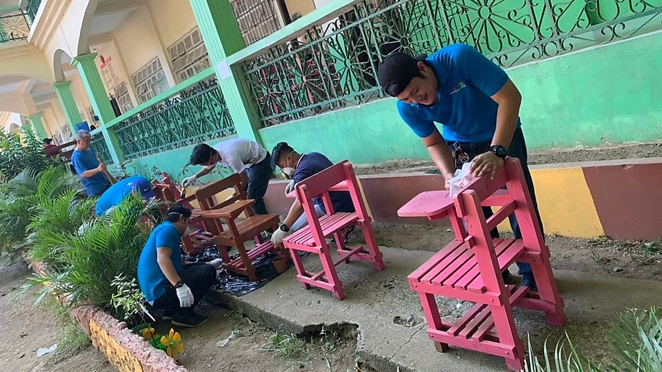 Malampaya volunteers for Brigada Eskwela 2019