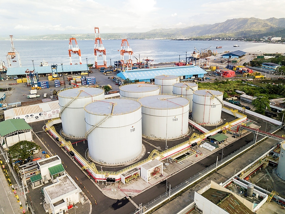 Fuel storage tanks at Shell's Northern Mindanao Import Facility