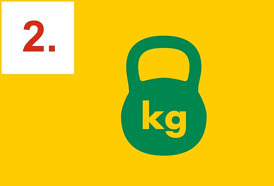 kettle bell with kg written on the front