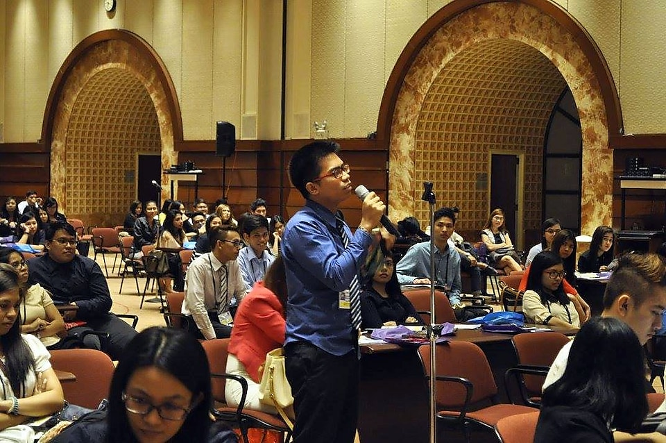 Youth delegates participating in discussions